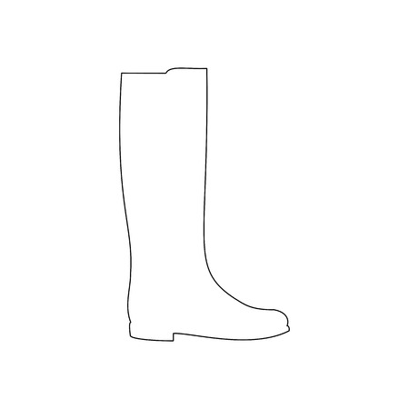 knee boots: Boots shoes illustration. Low heels boots. Vector illustration Illustration