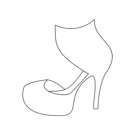 heels shoes: High heels shoes illustration. Woman shoes. Vector illustration Illustration
