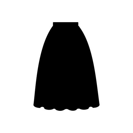 long skirt: Skirt vector illustration. Long skirt. Accordion skirt. Vector illustration