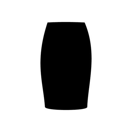 mini skirt: Skirt vector illustration. Long skirt. Tube skirt. Vector illustration