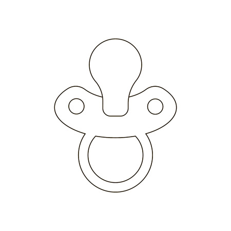 comforter: Nipple path vector on a white background. Vector illustration