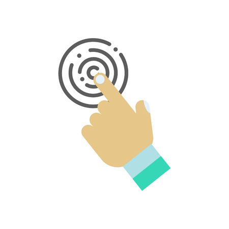 hand touch: Touch icon with hand on a white background. Vector illustration