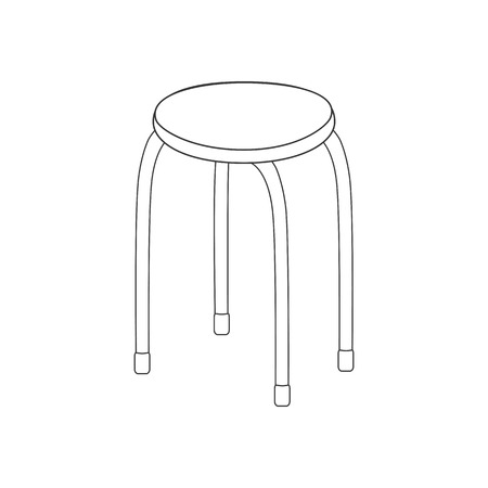 wooden leg: Kitchen chair illustration path on the white background. Vector illustration