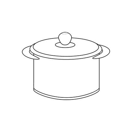 saucepan: Saucepan illustration path on the white background. Vector illustration