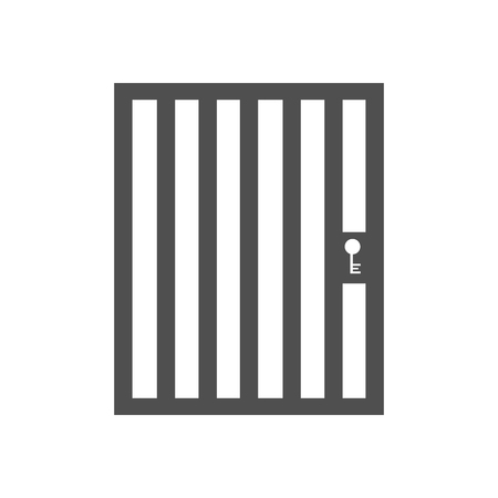 aviary: Aviary cage door on the white background. Vector illustration