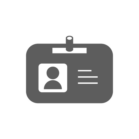 id badge: Name badge illustration. Id badge. Document determining identity icon. Id card. Vector illustration