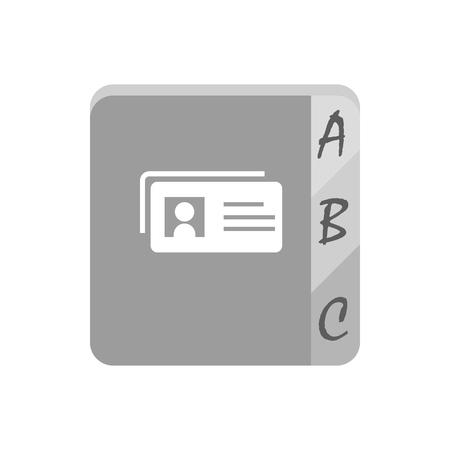 telephone book: Telephone book icon on the white background. illustration Illustration