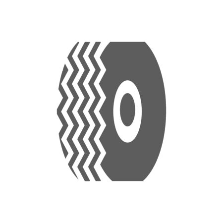 car tire: Car tire icon on the white background. illustration Illustration