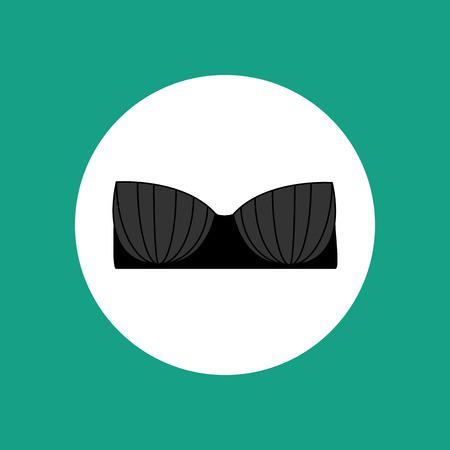 lace bra: Lace bra vector illustration on the white background. Lingerie. Vector illustration Illustration