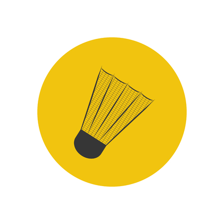 shuttlecock: Shuttlecock silhouette illustration on the yellow background. Vector illustration Illustration