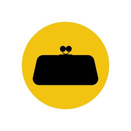 clutch bag: Clutch bag illustration on the yellow illustration. Vector illustration