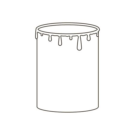 paint can: Paint can illustration on the white background. Vector illustration Illustration