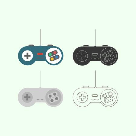 console: Gamepad Joystick. Joystick game console. Vector illustration Illustration