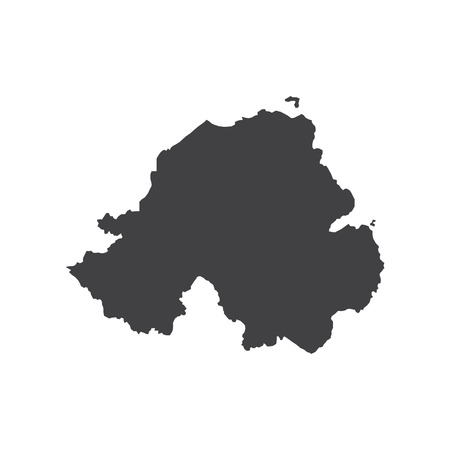 nothern ireland: Nothern Ireland map silhouette illustration on the white background. Vector illustration