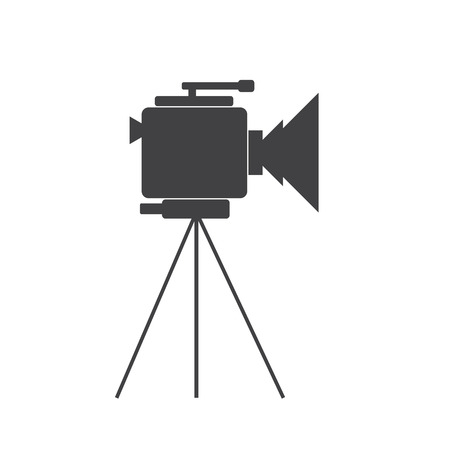 video camera: Video camera icon on the white background. Cinema. Vector illustration