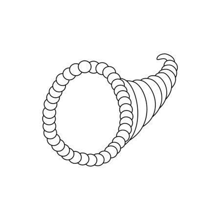 Cuerno de la abundancia en el fondo blanco. ilustración vectorial