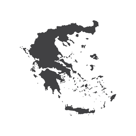 hellenic: Hellenic Republic map silhouette on the white background. Vector illustration Illustration