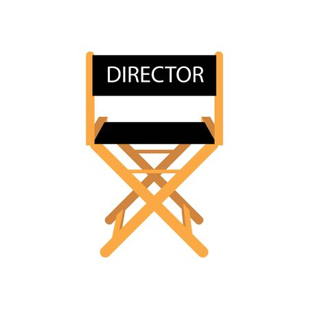 Movie director chair on the white background. Vector illustration Illustration