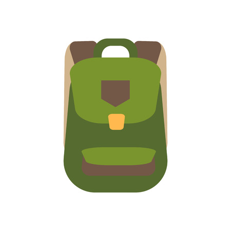 Backpack illustration on the white background. Vector illustration