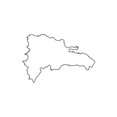 Dominican Republic Outline Stock Vector Illustration And - Dominican republic map vector