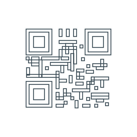 qrcode: Qr code icon on the white background. Vector illustration