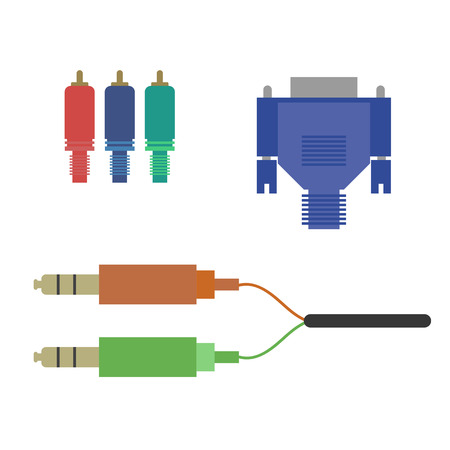 74582255 aux vga component cable on the white background vector illustration?ver=6 268 vga cable stock illustrations, cliparts and royalty free vga vga to component wiring diagram at readyjetset.co