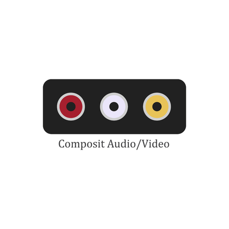 Composit audio video on the white background. Vector illustration