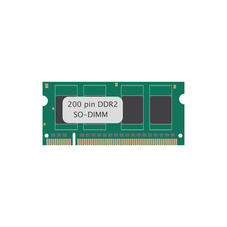 ddr: RAM 200 ddr on the white background. Vector illustration