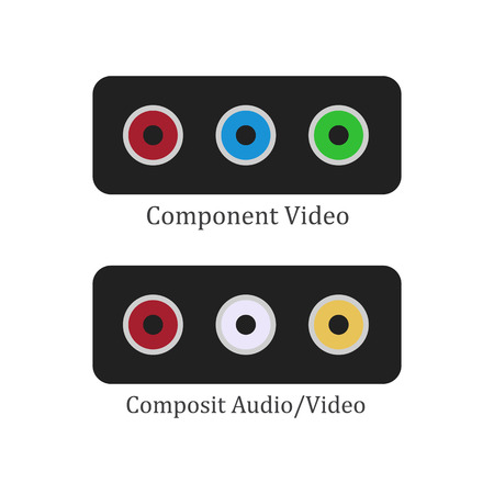 Component composit illustration on the white background. Vector illustration