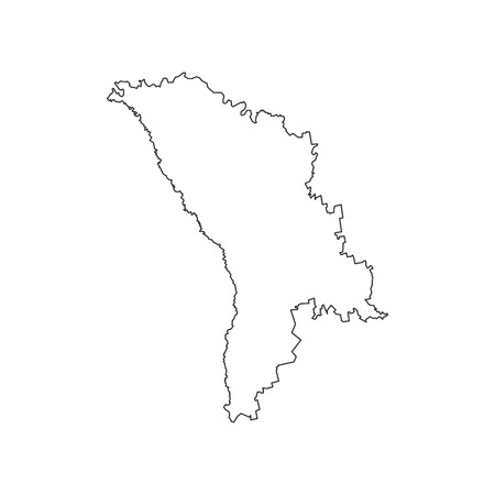 Moldova map on the white background. Vector illustration