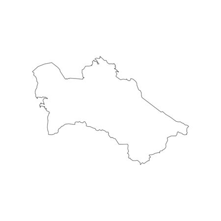 turkmenistan: Turkmenistan map silhouette on the white background. Vector illustration