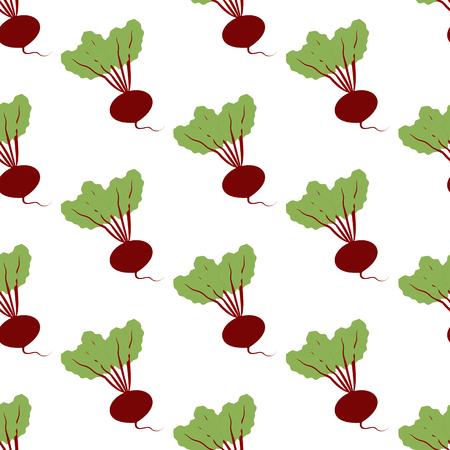 Beet Vegetable pattern on the white background. Vector illustration Stock fotó - 80091142