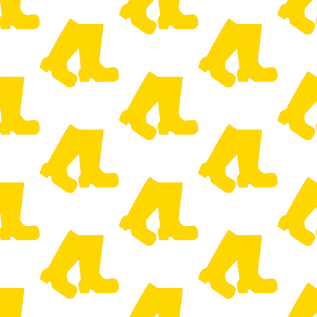 Rubber boots pattern on the white background. Vector illustration Illustration