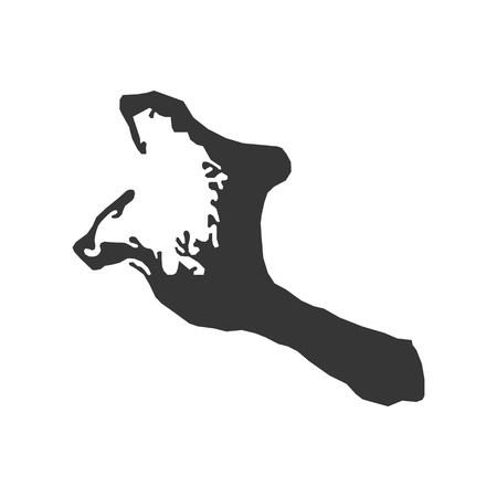 Kiribati map silhouette illustration on the white background. Vector illustration Illustration