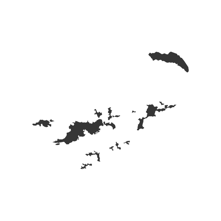 British Virgin Islands map on the white background. Vector illustration