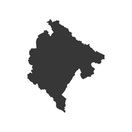 Montenegro map on the white background. Vector illustration