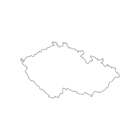 Czech Republic map outline on the white background. Vector illustration 일러스트