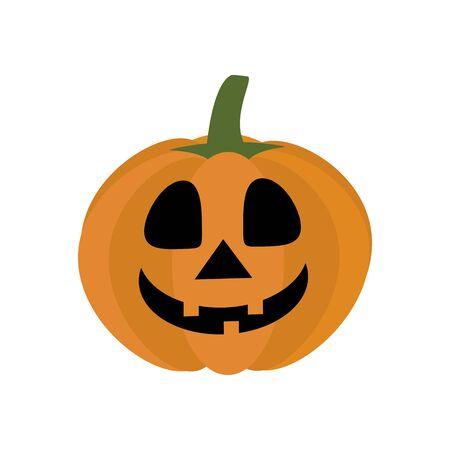 Jack-o-lantern pumpkin on the white background. Vector illustration Illustration