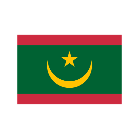mauritania: Mauritania flag and map on the white background. Vector illustration