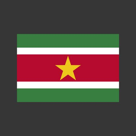 Suriname: Suriname flag Vector illustration