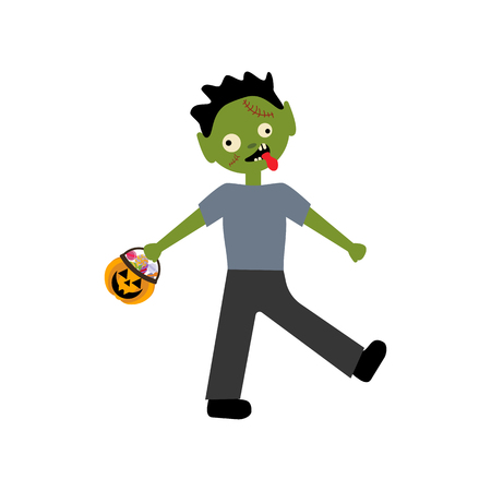 Zombie halloween costume on the white background. Vector illustration