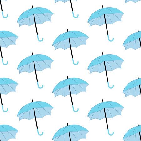 Blue umbrella seamless pattern.