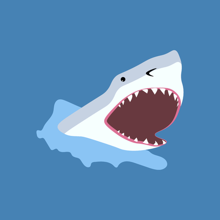 Shark fish illustration.