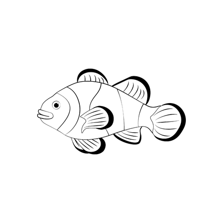 Clownfish coloring pages Vectores