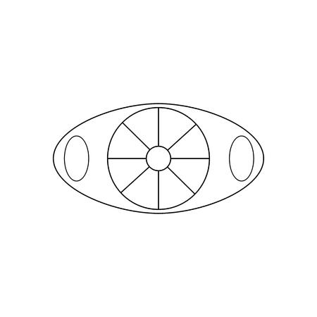 Apple cutter knife on the white background. Vector illustration