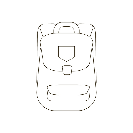 Backpack illustration vector on the white background. Vector illustration