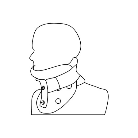 Clamp for the neck on the white background. Vector illustration