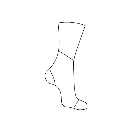 Neoprene brace on the ankle on the white background. Vector illustration Vectores