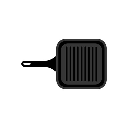 Grill pan on the white background, Vector illustration