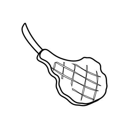 Steak meat coloring pages on the white background, Vector illustration Illusztráció